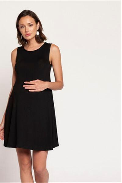 Vestido Lact. Vuelo Corto S/M Negro