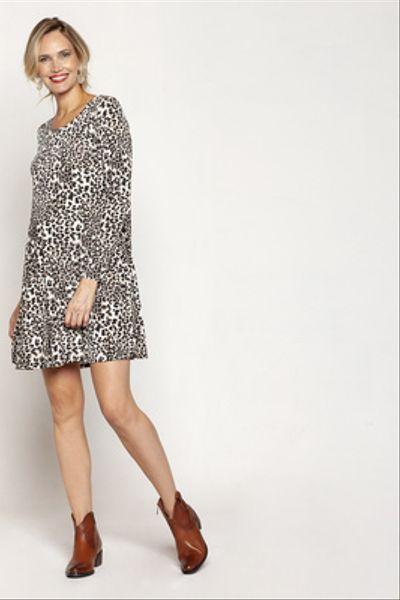 Vestido al cuello M/L  Leopardo
