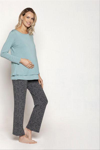 Pijama Polera Doble M/L Ramitas Azules