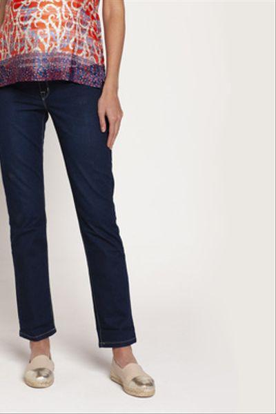 Jeans Maternal Anita Recto Azul
