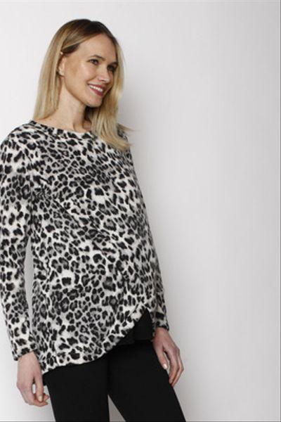 Polerón Capas Leopardo Gris