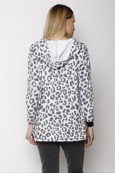 Polerón Canguro Leopardo Blanco