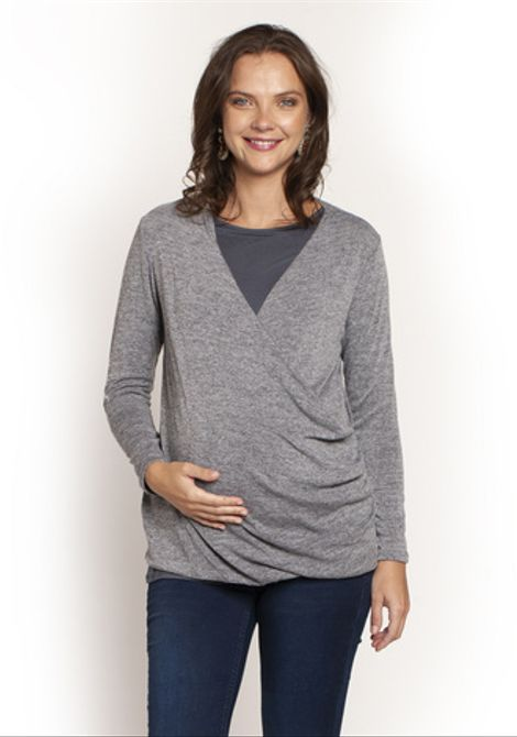 Sweater Cruzado Gris