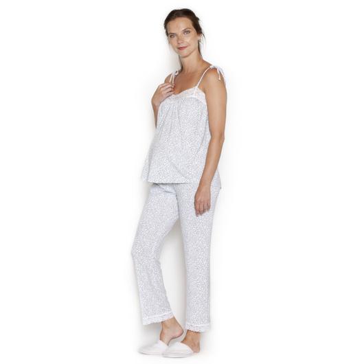 Pijama Cinta Ramitas Grises