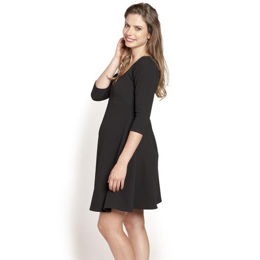 Vestido Básico M3/4 Negro Invierno