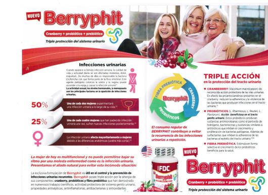 Berryphit (60 Capsulas) Cranberry (Antioxidante)