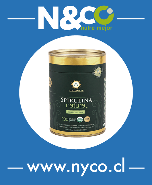 Spirulina Nature 200g polvo, 100% Orgánico