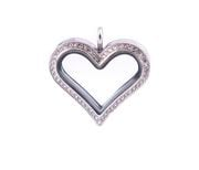 Medallon grande corazon con cristales