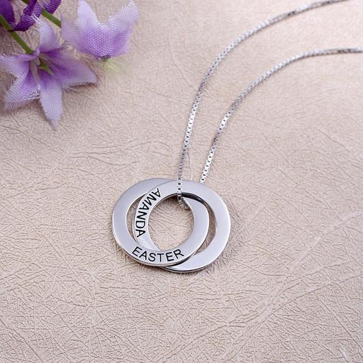 Collar Circulos personalizados Plata 925