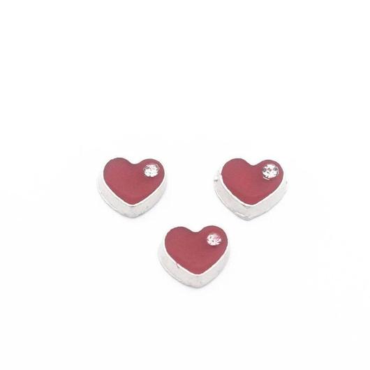 Corazón Rojo con Cristal