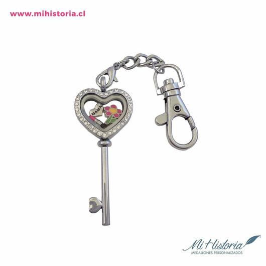 Llavero llave corazón