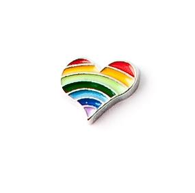 Corazón arcoiris