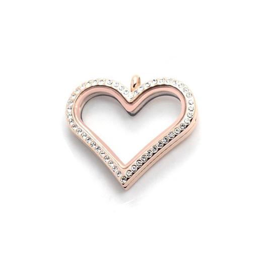 Medallon corazón con cristales