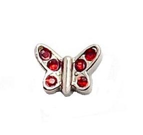Mariposa cristal rojo
