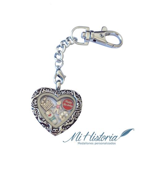 Llavero Vintage (Corazón - Cuadrado)