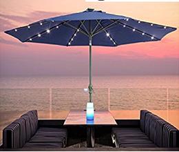 Quitasol Solar con luces LED incorporadas