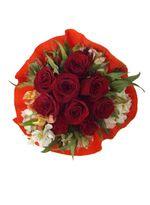 Ramo 9 Rosas Crepe
