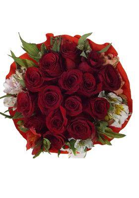 Ramo 15 Rosas Crepe
