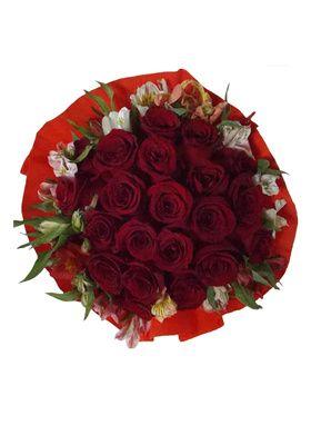 Ramo 21 Rosas Crepe