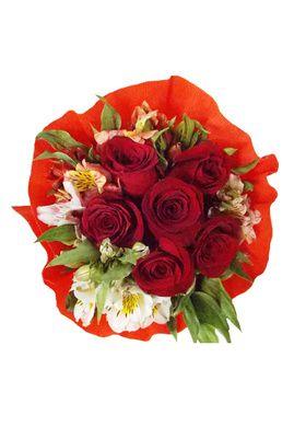 Ramo 6 Rosas Crepe
