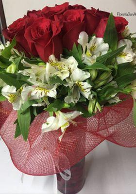 Florero 9 Rosas