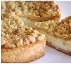 Cheesecake Crumble de Manzanas