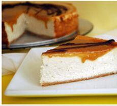 Cheesecake Plátano con Miel de Palma
