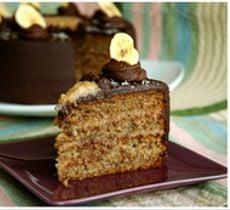 Torta German Banana Cake - Plátano, Nuez y Coco