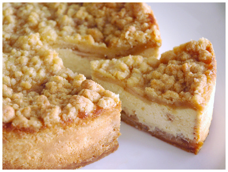 Cheesecake Crumble de Manzanas