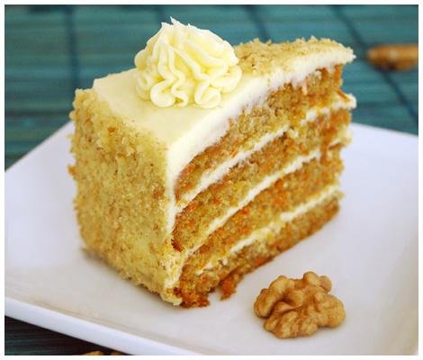 Torta Carrot Cake (Zanahorias) Sin Azucar