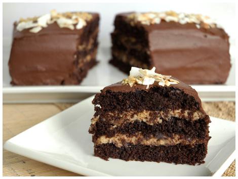 Torta German Chocolate Cake Sin Azúcar