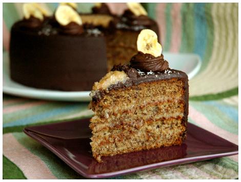 Torta German Banana Cake Sin Azúcar
