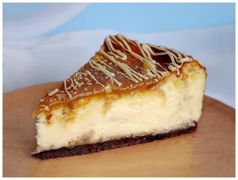 Cheesecake Chocolate Blanco con Toffee y Almendras
