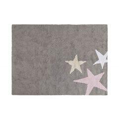 Alfombra Tres estrellas Gris-Rosa