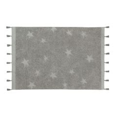 Alfombra Hippy Star Grey
