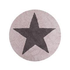 Alfombra reversible Rosa-Gris