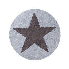 Alfombra reversible Azul-Gris