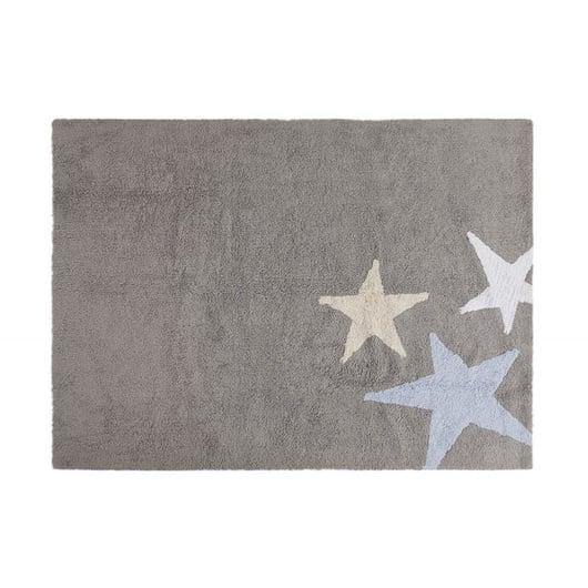 Alfombra Tres estrellas Gris-Azul