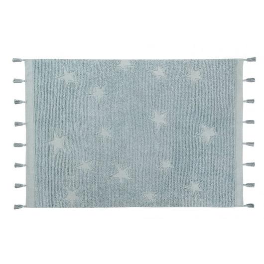 Alfombra Hippy Star Aqua Blue