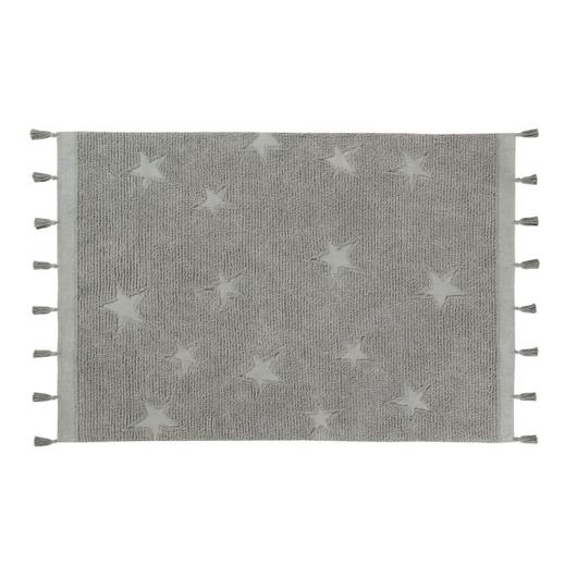 Alfombra Hippy Star Grey