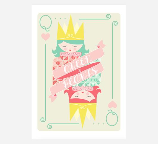 Laminas Queen of Hearts