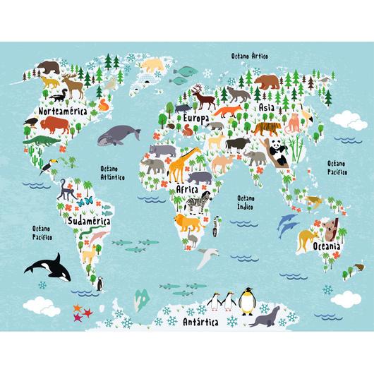Mapa ilustrado  - 2 colores