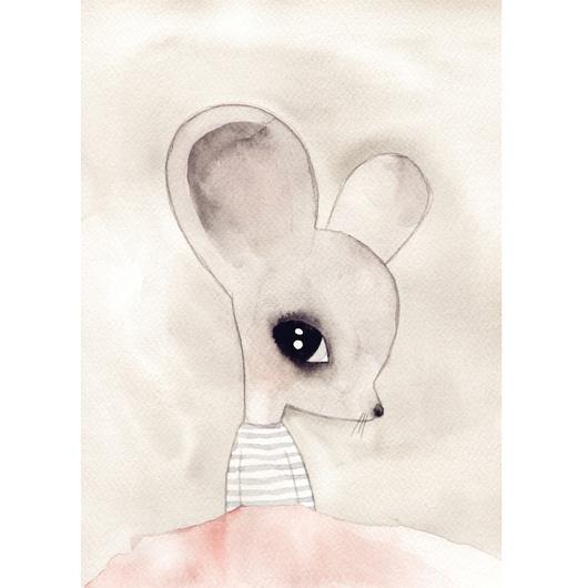 Lamina Ratón acuarela