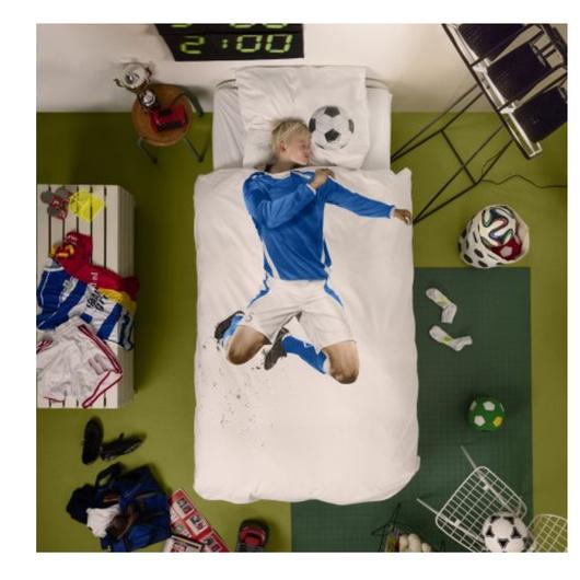 Cubre plumón Futbol Azul