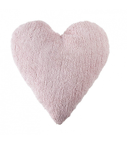 Cojín corazón Rosado