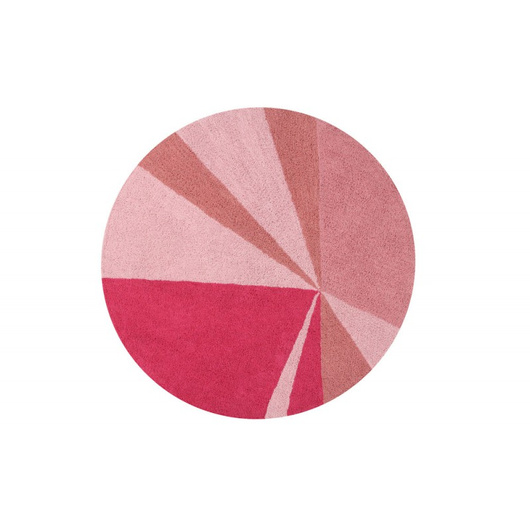 Alfombra Geometric Rosa