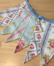 Guirnalda de Banderines Rositas Vintage Azules