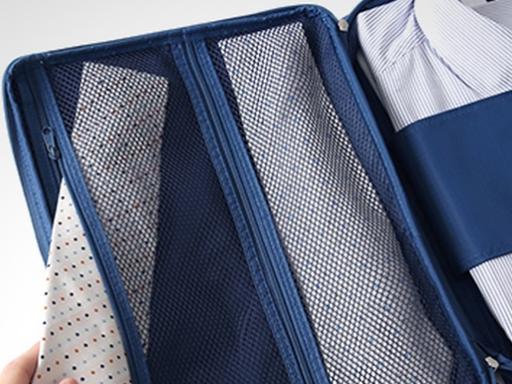 Organizador de camisas y corbatas para viajes