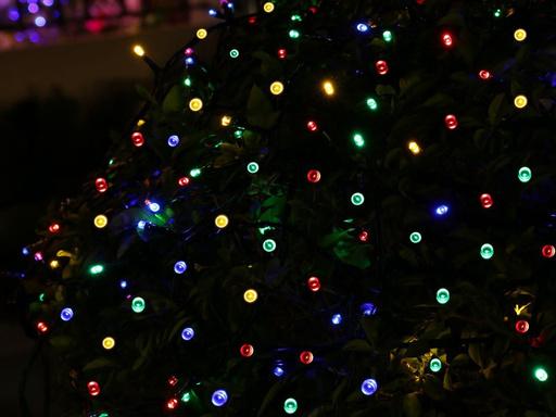 Guirnalda de 100 luces led solares - Multicolor