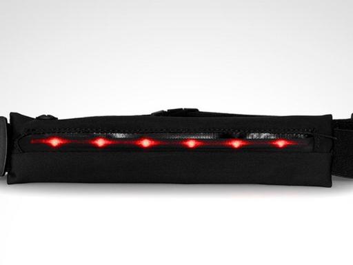 Cinturon de running expandible con luces led
